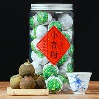 250-300 Toplam 20pcs Olgun Puer Doğal Bitki Çay Poşeti Mandalina Peel Pu'er Çay Poşeti DIY Çin Qinggan Pu'er Çay