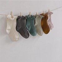 Doces cor crianças Meias com laço das meni meias macias do bebê crianças infantil Crianças Princesa Sock alta qualidade