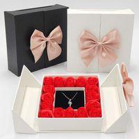 1pcs 장미 선물 상자 발렌타인 데이 선물 포장 상자 보석 상자 활 선물 상자 선물 랩 드롭 배송 XD24293