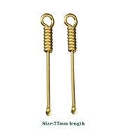Nuevo 77 mm de longitud de latón cuchara de cobre Tubería de fumar herramienta de limpieza Dab Dabber Spoon Dabber Wax Tool