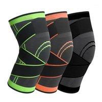 Coupeaux de genoux de coude 2pc Knepad Bandage élastique Protecteur de support pressurisé pour Fitness Sport Running Arthrite Muscle Brace1