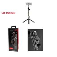 Mais novo L08 Handheld Grip Gimbal Stabilizer Tripod Balance Auto Anti-Shake Selfie Stick Stand Ajustável Suporte Sem Fio Bluetooth Remoto