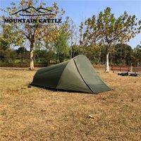 ماطلة الجبال خفيفة 2 شخص في الهواء الطلق التخييم خيمة النفق نوع العاصفة الممطرة الوقاية