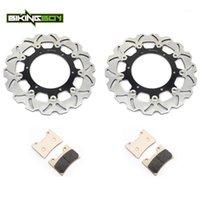 دراجة نارية الفرامل Byleboy 300MM Front Brake Diss Disks Disks Rotors Pads for VMX 1200 V-MAX 93 94 95 96 97 98 99 00 01 02 03 04 05 06 07
