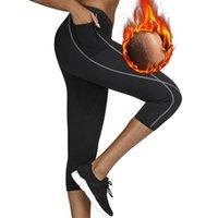 Yoga itfits سحابة إخفاء طماق الرياضة مع جيب النيوبرين ساونا بانت الحرارية داخلية الخصر المدرب سليم البطن السيطرة سراويل السراويل