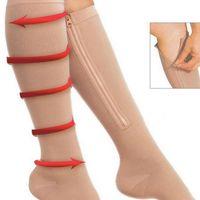 На молнии сжатие ноги ножки женщины хранят красивый носок молнии ультратонкий дышащий zip sox lady socks wy1052