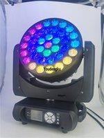 Lyre Movingheads LED Wash 37x12W RGBW 4 in 1 Controllo ad anello Ape Eye LED Zoom Testa mobile DJ Luce del fascio