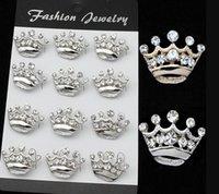 Golden Plated Mini risvolto Pins Crown Turtle Beetle Spilla Chiaro Crystal Collar Pins Wedding Bridal Jewelry Women PS1094