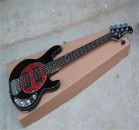 Fábrica al por mayor de alta calidad 5 cuerdas Música Hombre Stingray Pickups activos 9V batería eléctrica Guitarra de bajo en stock