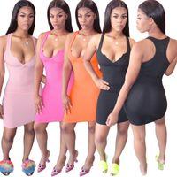 Frauen Designer Kleider Sexy Deep V Womes Weste Kleid Fashions Damen Casual Plus Size Kleidung S-XXL Maxi Beach Floral Bohemian