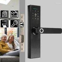 Contrôle des empreintes digitales Contrôle de la porte électronique Serrure biométrique / numérique Code Smart Card Smart Clear écran tactile pour la maison EL1