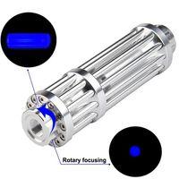 Potente potente puntatore laser torcia 450nm 10000 m 10000 m Puntatori a vista laser focalizzabili Lazer Torcia Bruciatura Burning Match / Bur Qylzya