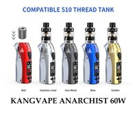 Kangvape Anarchist 60 W Pod Kiti Ayarlanabilir Wattage Kompakt Sistem OLED Ekran ile 5 Renkler 1500 mAh Pil 100%