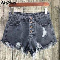 Kkillero Vintage Roading Hole Bringe 6 Цвет Джинсовые Шорты Женщины Повседневная Карманные джинсы Шорты 2017 Летняя Девушка Горячие Шорты SL086 Y200512