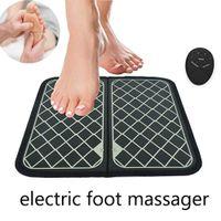 Elétrico EMS Pé Massager Pad Pés Estimulador Muscular Pé Massagem Mat Melhorar a circulação sanguínea Aliviar a dor da dor