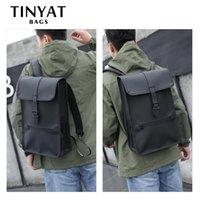 Tinyat 14 рюкзак кожаный мужской сумка мужской ноутбук мочила для повседневной школы мужской мужской bagpack путешествие дюймовый xaiad