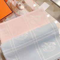 2021 Novos 2 cores Nascido bebê cobertor menino meninas suaves 100% algodão crianças meninas infantil inverno cobertor tops 70x100cm