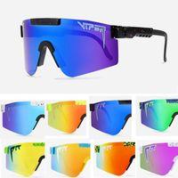 2021 Pit Viper Оригинальный Спорт Google TR90 Поляризованные солнцезащитные очки для мужчин / Женщин Открытый Ветрозащитный Очки 100% УФИК Зеркальные подарки объектива