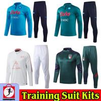 2020 2021 Napoli Männer Fußball Trainingsanzüge Napoli MAILLOT FOUT SURFETEMENT TRAINING Anzüge 20 21 Football Kit Chandal Italy Langarm Jogging
