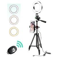 26см / 16см камеры Selfie монетания с 130см штативной стойки USB 3 легкого кольца Selfie светло-фото светодиодный стенд для телефона YouTube Tiktok