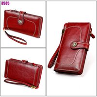 HBP WESTAL women's wallet genuine leather luxury wallet wristlet female clutch wallets designer purse phone money bag portomonee 853