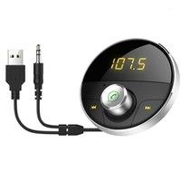 Kit auto Bluetooth Aux vivavoce 3.5mm Jack Audio MP3 Player Trasmettitore FM wireless Auto Speaker1