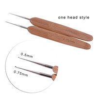 도구 크로 셰 뜨개질 바늘 Dreadlocks 바늘 대나무 머리 제작 1/2/3 가발 후크 확장 액세서리 훅 헤어 가발 sqcgr에 대 한 Dreadlock