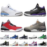 nike air jordan 3 jordan retro 3 3s Zapatos de baloncesto púrpura con conteo de alta calidad fresco gris jumpman 3 fragmento Red Cemento zapatillas de deporte para hombre