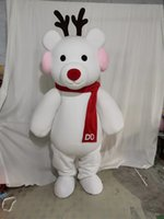Bâtisse blanche de Noël pour les costumes de mascotte de personnage de dessin animé de fête à vendre Prêt gratuite Prise en charge de la personnalisation