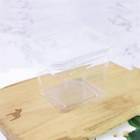 Jetable Nombre de couches Cake Boîte carrée Bento Pudding Pudding Mousse Transparente Boîtes d'emballage en plastique Factory Direct 0 42ly J2