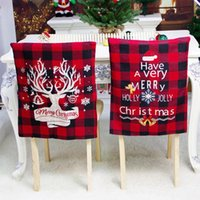 Dining Room Christmas Chair Cover Elastic Slipcovers Chair Covers Washable Stool Case Removable Festival Decor