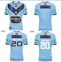 2020 Australia NSW Blues Rugby 2018 2019 2020 Мужчины Главная Джерси 2020 Истинные голубые Капитаны Регби Джетки NSW Австралия Состояние Происхождение Джерси