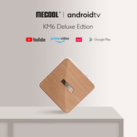 Mecool KM6 Deluxe TV Boîte AndroidTV 10.0 AMLOGIC S905X4 4GB 64GB 2.4G / 5G WIFI 6 WIDVINE L1 Google Play Top Video Set Top Boîte