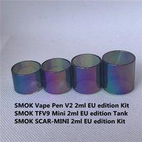 Smok Vape Pen V2 TFV9 Mini Scar-Mini 2ml EU TPD Edition Kit Sostituzione Arcobaleno Normale Tubo di vetro Tubo dritto Standard