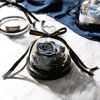 Konservierte Valentinstag-Geschenk Exclusive Rose in Glaskuppel mit Lights Ewiges echtes Rosen-Muttertagsgeschenk