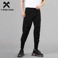 Мужские брюки 11 Bybb's Dark 2021ss Лоскутное карманы Грузовые брюки Мужской хараджуку Уличная одежда Тактические пробежки Мужские брюки Tech White Black1