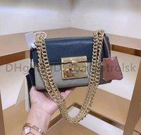 2021 Lusurys Designer Borse Borse Fashion Womens Crossbody Bag Bag Stampato Stampato Catene Borsa Borsa Real in pelle Signore Borsa a tracolla Borsa Borse Borsa919