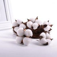 10 unids artificial flores secas plantas plantas accesorios bodas fiesta fiesta casas naturales bolas de algodón coloreado bolas de algodón1