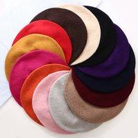 Woolen inverno boina cor sólida cor morna coreia versátil coelhos de cabelo beanie outono inverno moda mulheres chapéus Botão tampão venda quente 5 6xl m2