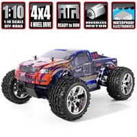 HSP RC Car 1/10 Escala 4WD Off Road Monster Caminhão 94111Pro Elétrico Power Power Brushless Motor Lipo Bateria Hobby Veículo 201218