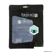 Sacchetto di imballaggio antipolvere bianco nero trasparente per la maschera per bambini Maschera per la moda Pacakging Borse 15 * 19cm JllXti Lucky2005