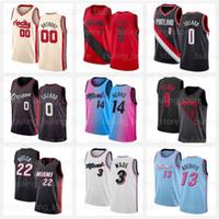 Miami Heat Portland Trail Blazers Jimmy 22 Butler Jersey Dwayne Tyler 14 Herro Dwyane 3 Wade Damian 0 Lillard Carmelo 00 Anthony Goran Bam Robinson Adebayo Dragic Nunn