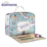 Güneşveno Bebek Bezi Çanta Analık Çantası Tek Kullanımlık Kullanılabilir Moda Baskılar Için Islak Kuru Bezi Çantası Çift Kolu Islak Çanta 21 * 17 * 7 cm Y200107