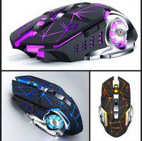 горячий Q13 беспроводной зарядки Gaming Mouse Бесшумный Luminous Механическая мышь механические Мыши компьютерные аксессуары DHL бесплатно