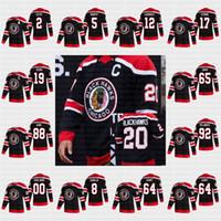 Homens Mulheres Juventude Chicago Blackhawks 2021 Reverse Retro Patrick Kane Lehner Jonathan Toovs 65 Shaw 77 Kirby Dach Duncan Keith Debrincat Jersey