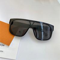 1258 Neue Mode-Sonnenbrille mit UV-Schutz für Männer und Frauen Vintage Square Frame Einteilige Linse Beliebte Top-Qualität Kommen Sie mit Fall