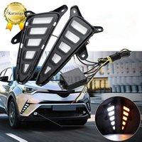2 pcs LED Luz de Running Daytime para TOYOTA C-HR CHR 2016 2017 2018 Acessórios de carro À Prova D 'Água ABS 12V DRL Decoração da Lâmpada de Névoa