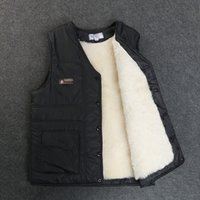 Мужской зимний жилет Реальные овечьи меховые короткими куртками утолщены Сервиться теплый новый жилет Высококачественные овчарки плюс размер зимнее пальто 201114