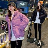 Новые зимние женщины, сладостные с капюшоном с капюшоном с капюшоном с капюшоном пальто Офисная леди густая свободная буква одиночные погружные отражающие куртки MSFILIA 201019