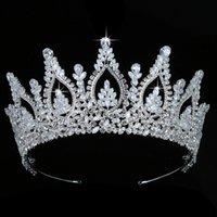 Hadiyana Trendy Queen Tiaras und Krone Frauen Hochzeit Haarschmuck Party Sombreros Zirkon BC5436 Corona Princesa